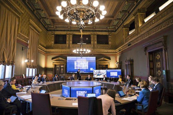 Hallitus kokoontui 7. huhtikuuta Säätytalolle kaksipäiväiseen talouden kehysriiheen.