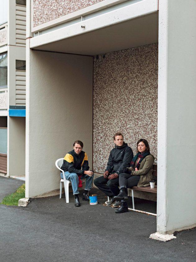 Mattias Björkas (vas.), Daniel Ventus ja Tiina Kärkinen ovat Vasas flora och fauna.