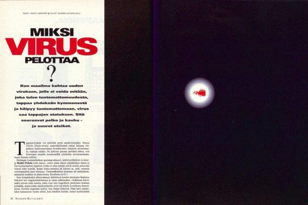 """SK 21/1995 (26.5.1995): Risto Lindstedt: """"Miksi virus pelottaa?"""""""