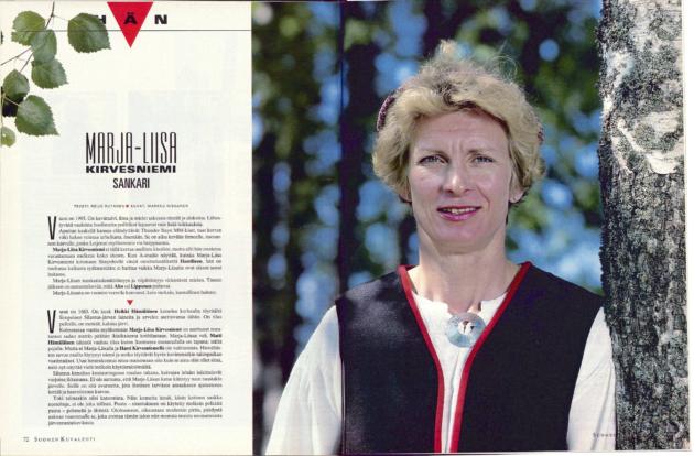 """SK 25/1995 (22.6.1995) Reijo Rutanen: """"Hän, Marja-Liisa Kirvesniemi, sankari""""."""
