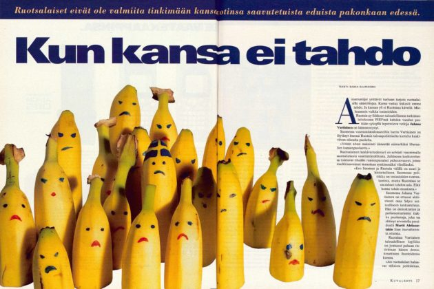"""SK 27/1995 (7.7.1995) Saska Saarikoski: """"Kun kansa ei tahdo""""."""