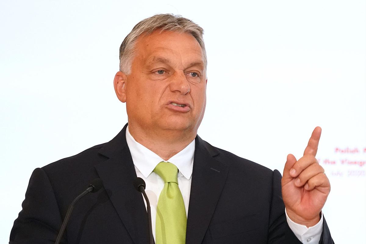 Unkarin pääministeri Viktor Orbán Varsovassa 3. heinäkuuta 2020.