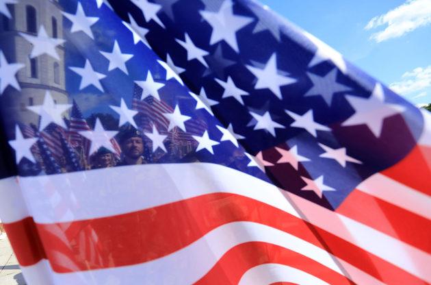 Yhdysvaltain lippu. Kuvituskuva.