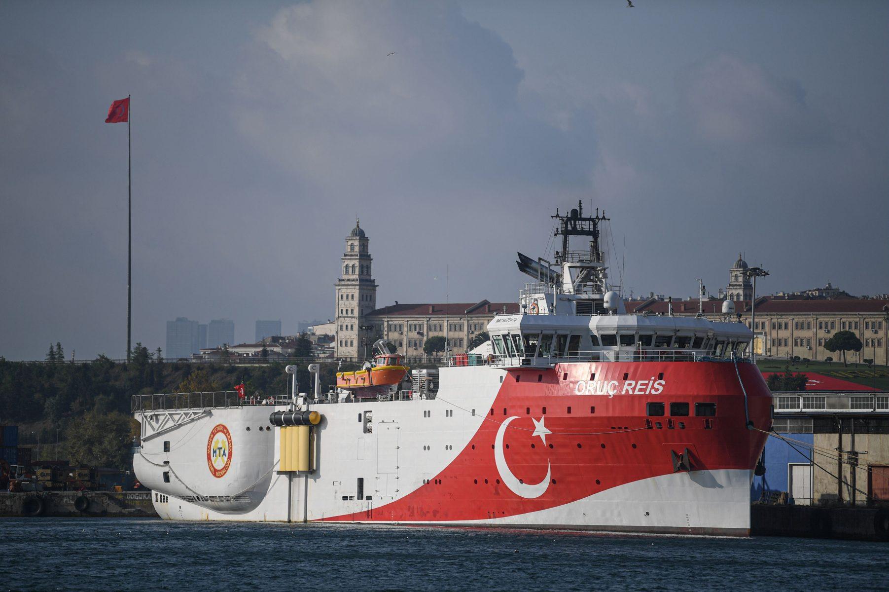 Turkki käyttää merentutkimusalustaan poliittisissa operaatioissa. Tässä alus on Istanbulissa elokuussa 2019.