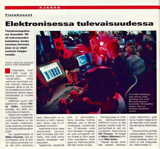"SK 33/1995 (18.8.1995) Kristina Carlson: ""Elektronisessa tulevaisuudessa."""
