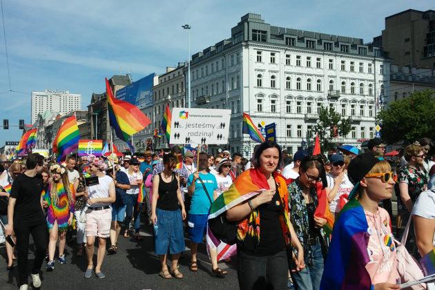 Pride-kulkue Puolan pääkaupungissa Varsovassa vuonna 2018.