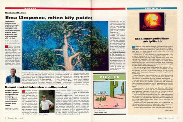 """SK 32/1995 (11.8. 1995) Reijo Rutanen: """"Ilma lämpenee, miten käy puiden?"""""""