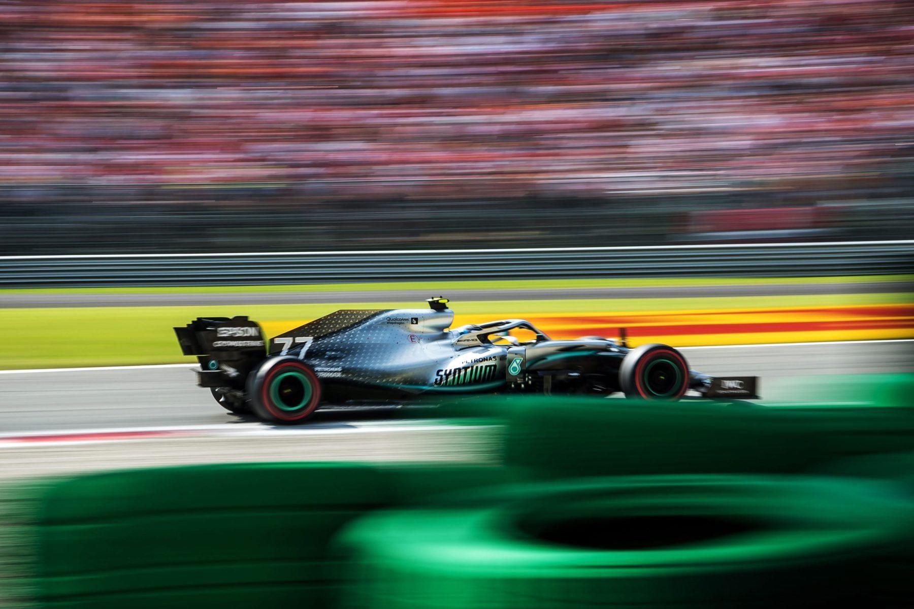 Valtteri Bottas ajoi Monzan radalla 7. syyskuuta 2019. Rataa pidetään yhtenä maailman vaikeimmista.
