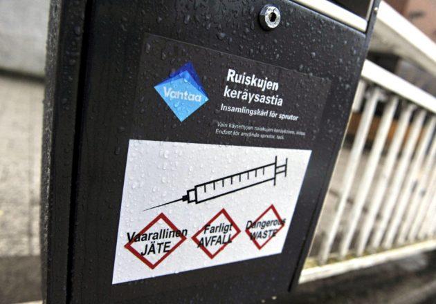 Keräysastioilla yritetään estää tartuntatautien leviäminen ja huumeneulojen päätyminen kaduille ja puistoihin.