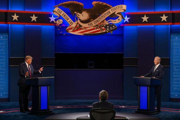 Yhdysvaltain presidenttiehdokkaat Donald Trump ja Joe Biden osallistuivat televisioväittelyyn Ohion Clevelandissa 29. syyskuuta.