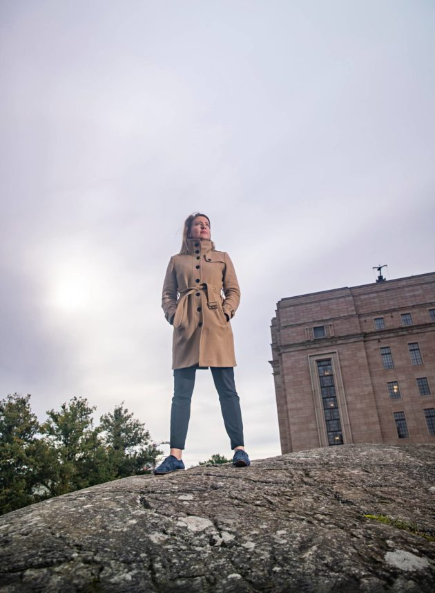Johanna Vuorelma Arkadianmäellä Helsingissä 11. syyskuuta.