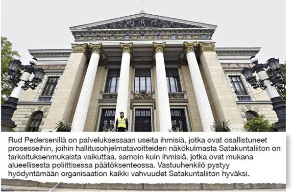 Ote Rud Pedersen Public Affairs Company Oy:n yhteistyötarjouksesta 22. tammikuuta 2018.