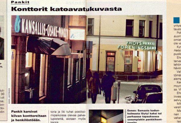 """SK 39/1995 (29.9.1995) Arja Piispa: """"Konttorit katoavat katukuvasta""""."""