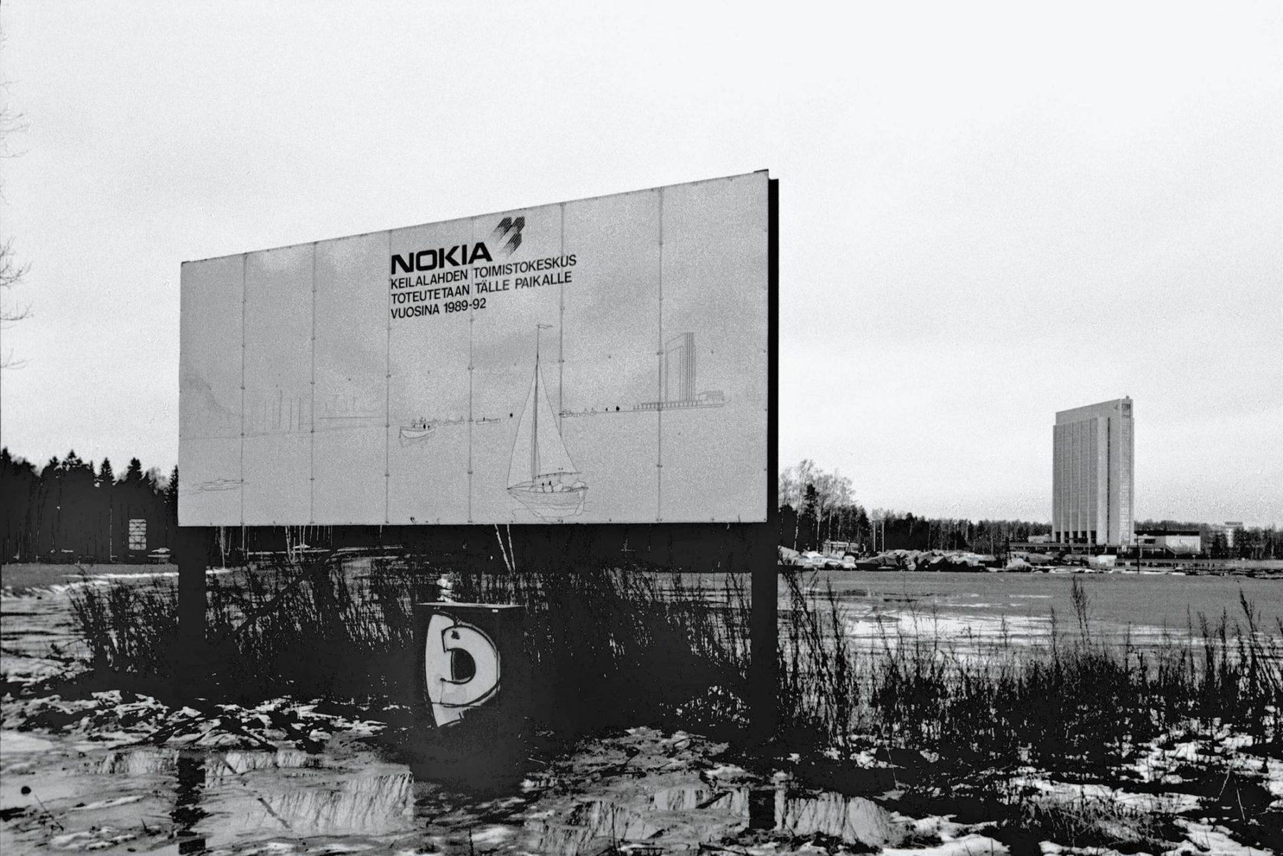 Nokia suunnitteli 1990-luvun alussa toimistoa Espoon Keilaniemeen, mutta laman takia hanke lykkääntyi liki 10 vuotta.