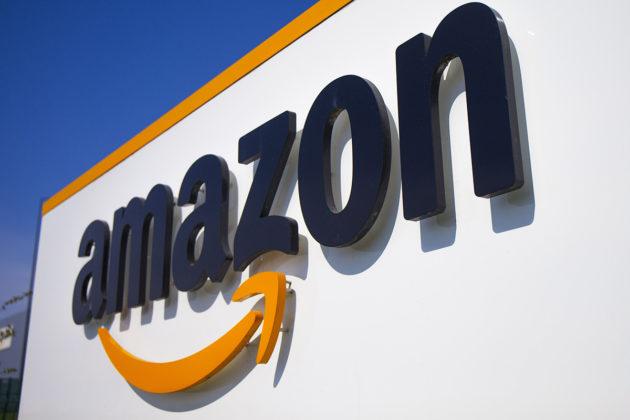 Verkkokauppajätti Amazonin logo. Kuvituskuva.