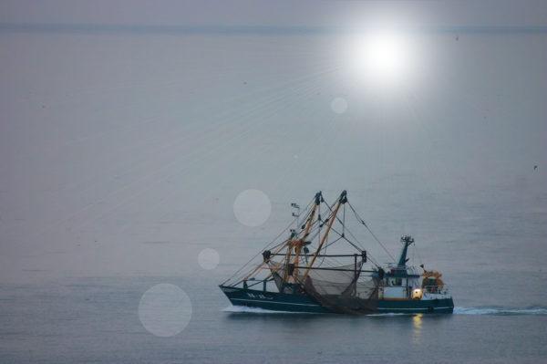 Kalastusvene Belgian Koksijdessa.