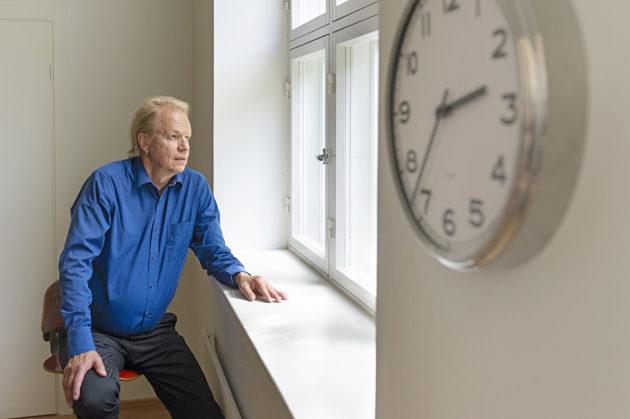 Kirjailija Peter Sandström.