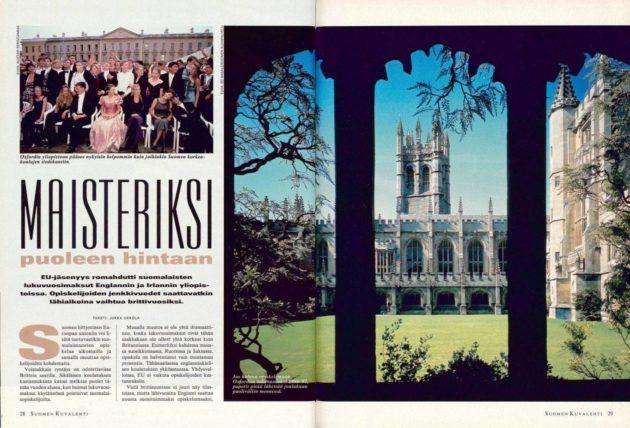 """SK 44/1995 (3.11.1995) Jukka Ukkola: """"Maisteriksi puoleen hintaan""""."""