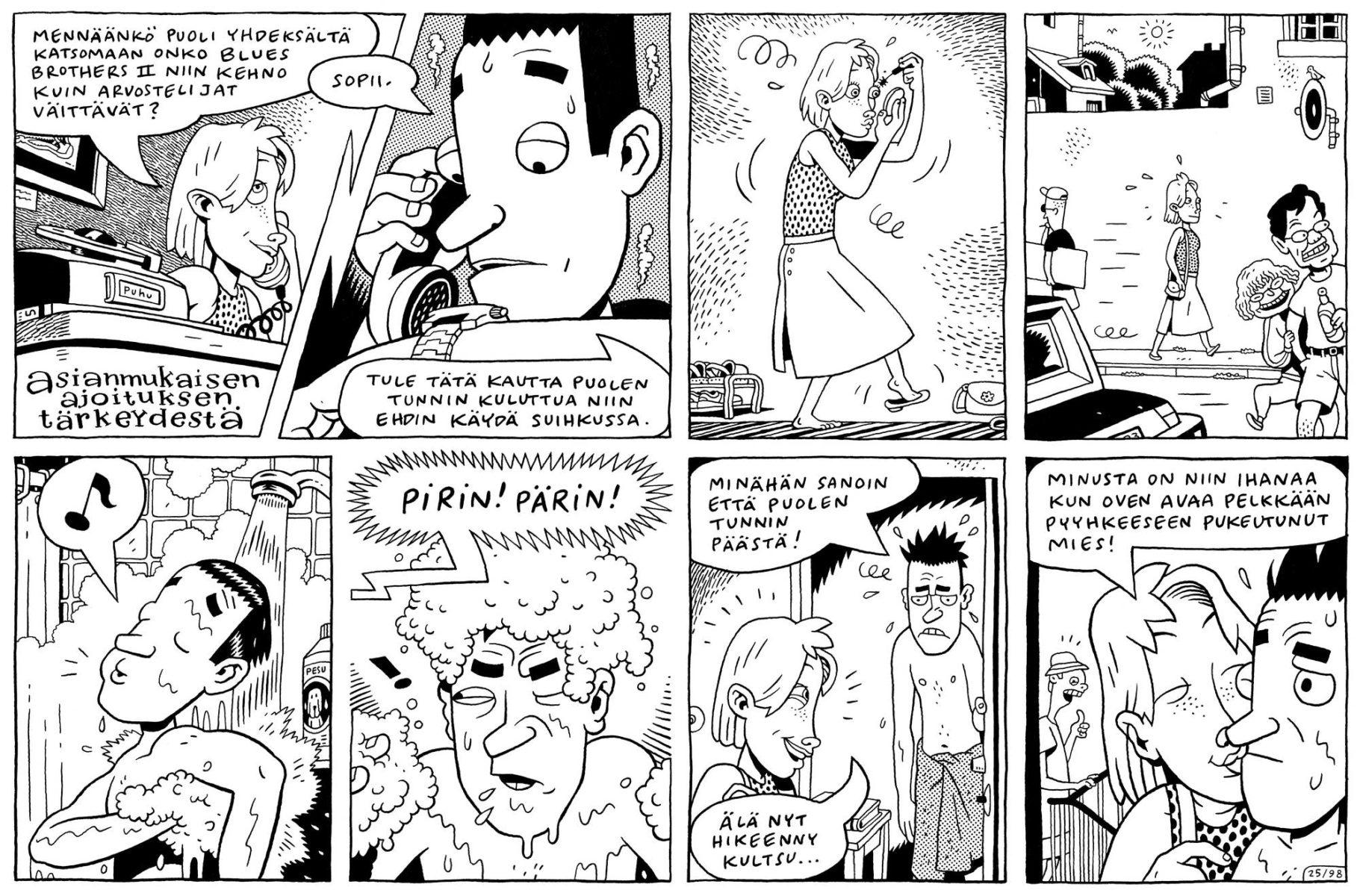 Sami Toivonen on yksi Kramppeja & nyrjähdyksiä -sarjan piirtäjistä.