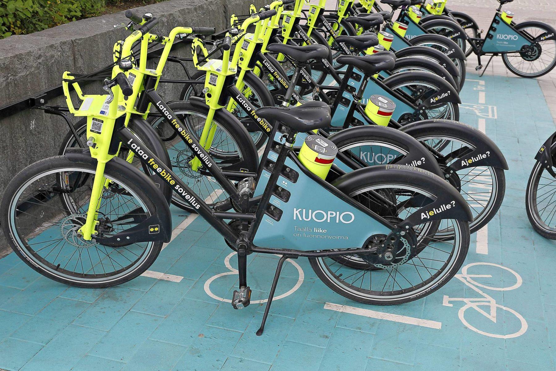 Kuopio pyrki kaupunkipyörien avulla vähentämään liikkumisen päästöjä ja energiankulutusta.