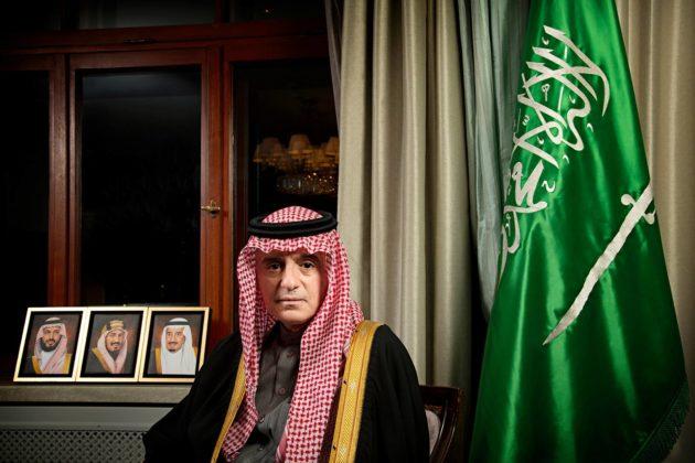 Apulaisministeri Adel al-Jubeir kuvattiin Hotel Kämpissä Helsingissä 9. marraskuuta 2020.