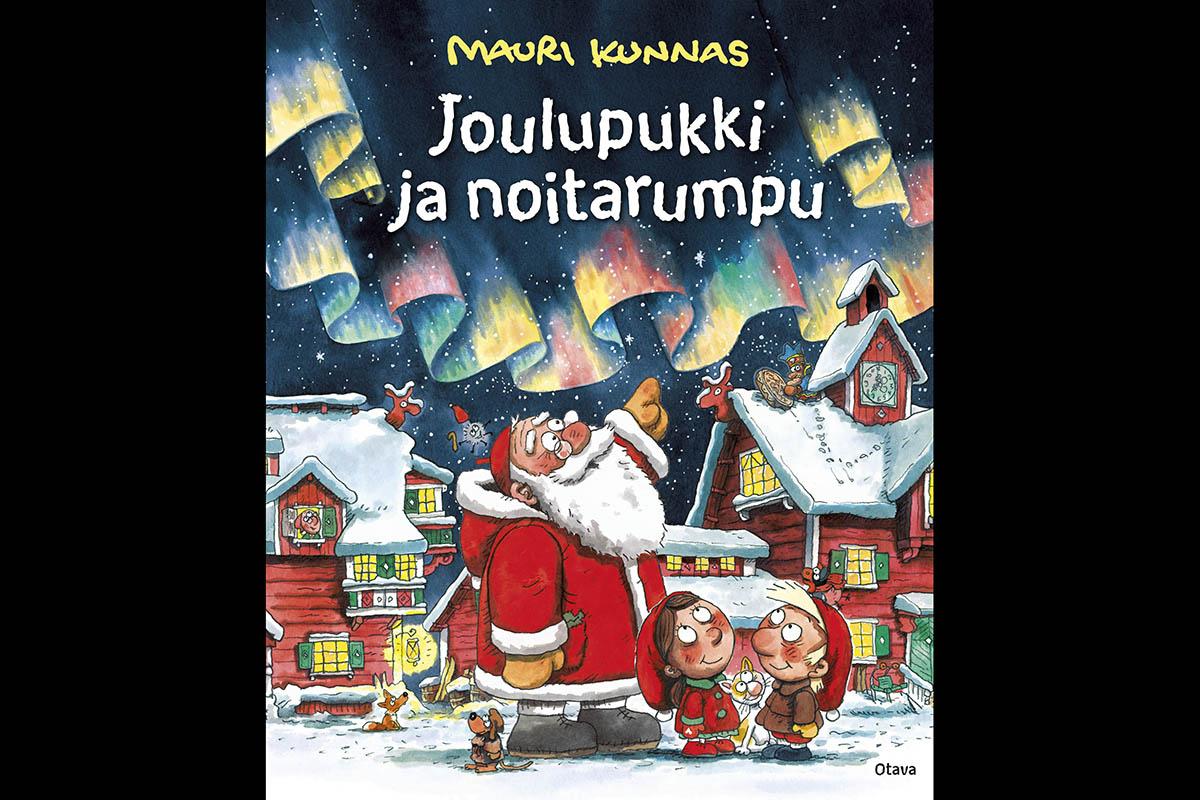 Mauri Kunnaksen lastenkirja Joulupukki ja noitarumpu on ilmestynyt vuonna 1995.