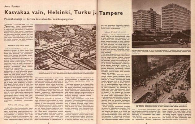 Kasvavat kaupungit tarjosivat uuden ja kiinnostavan juttuaiheen vuonna 1957.