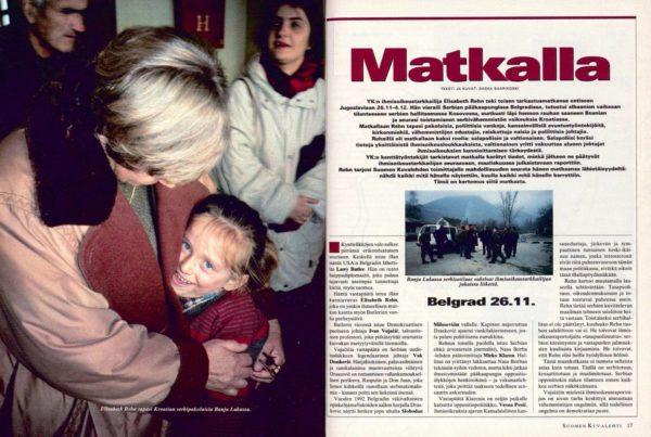 """SK 51–52/1995 (22.12.1995) Saska Saarikoski: """"Matkalla""""."""