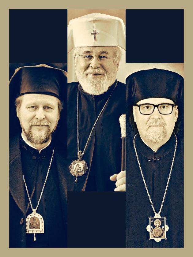 Metropoliitta Arseni, arkkipiispa Leo ja metropoliitta Elia.