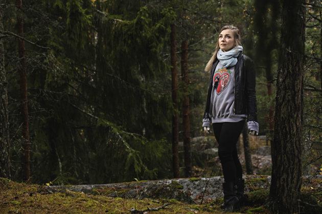 Kirjailija Laura Gustafsson.
