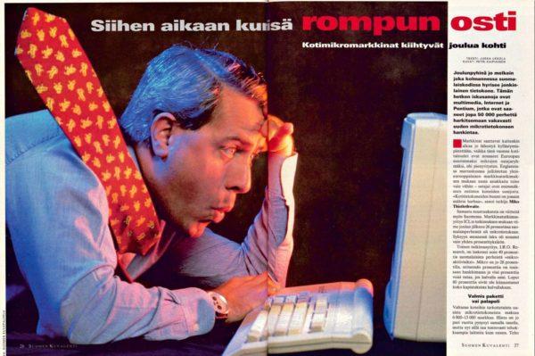 """SK 50/1995 (15.12.1995) Jukka Ukkola: """"Siihen aikaan kun isä rompun osti"""". Kuva: Petri Kaipiainen."""