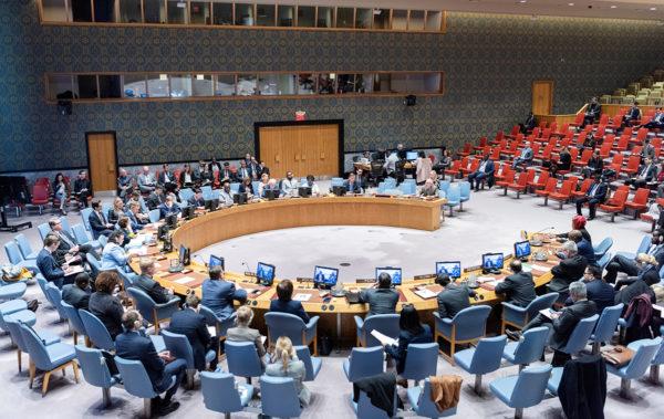 YK:n turvallisuusneuvosto kokoontuneena
