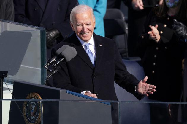Yhdysvaltain presidentti Joe Biden piti virkaanastujaispuhettaan Yhdysvaltain pääkaupungissa Washington D.C.ssä 20. tammikuuta.