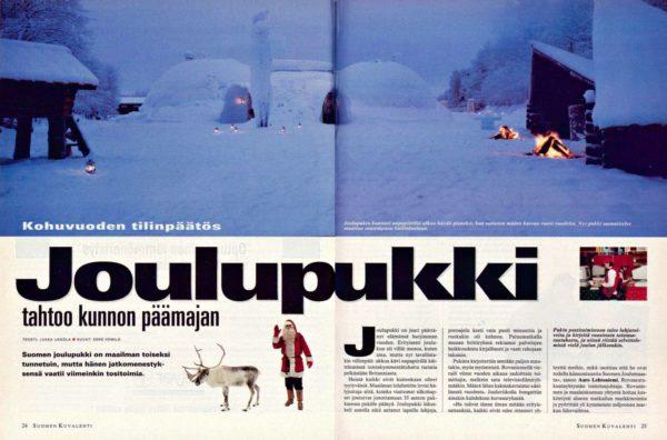 """SK 3/1996 (19.1.1996) Jukka Ukkola: """"Joulupukki tahtoo kunnon päämajan""""."""