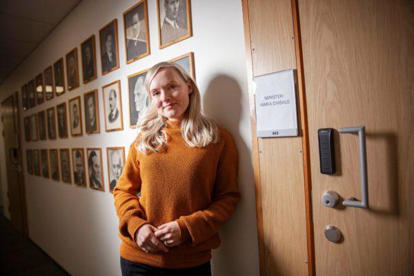 Maria Ohisalo on ensimmäinen vihreä ja viides nainen sisäministerinä.