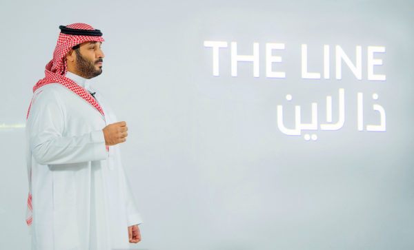 Saudi-Arabian kruununprinssi Mohammed bin Salman esitteli the Line -nimellä kulkevan kaupunkisuunnitelman 10. tammikuuta.