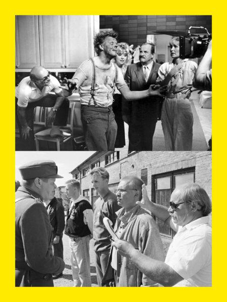 Spede Pasanen (kuva ylinnä, vas.) ohjasi vuonna 1987 ensimmäisen Uuno-farssinsa, kun yhteistyö Ere Kokkosen kanssa oli katkennut. Vesa-Matti Loiri, Elli Castrén, Tapio Hämäläinen ja Marjatta Raita olivat Uuno Turhapuro–kaksoisagentin tähdet. Ere Kokkonen (oik.) ohjasi Vääpeli Körmyä ja vetenalaisiä vehkeitä Mäntsälässä heinäkuussa 1991. Vasemmalla näyttelijä Heikki Kinnunen vääpeli Körmynä.