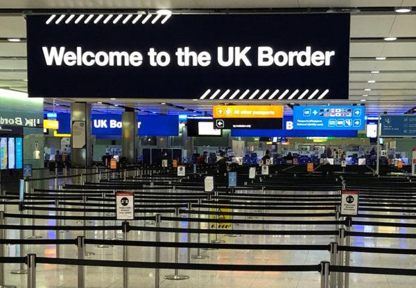 Näkymä Heathrown lentokentältä Lontoossa.