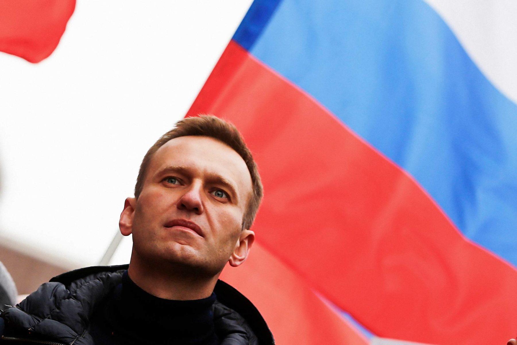 Aleksei Navalnyi osallistui Boris Nemtsovin muistomarssille Moskovassa 24. helmikuuta 2019.