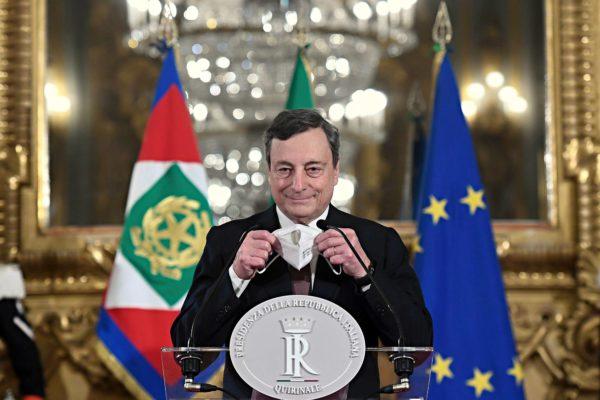 Italian uusi pääministeri Mario Draghi esitteli hallituksensa kokoonpanon 12. helmikuuta.