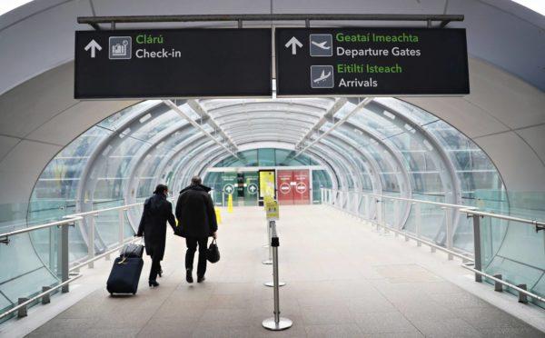 Dublinin lentokenttä helmikuussa 2021.