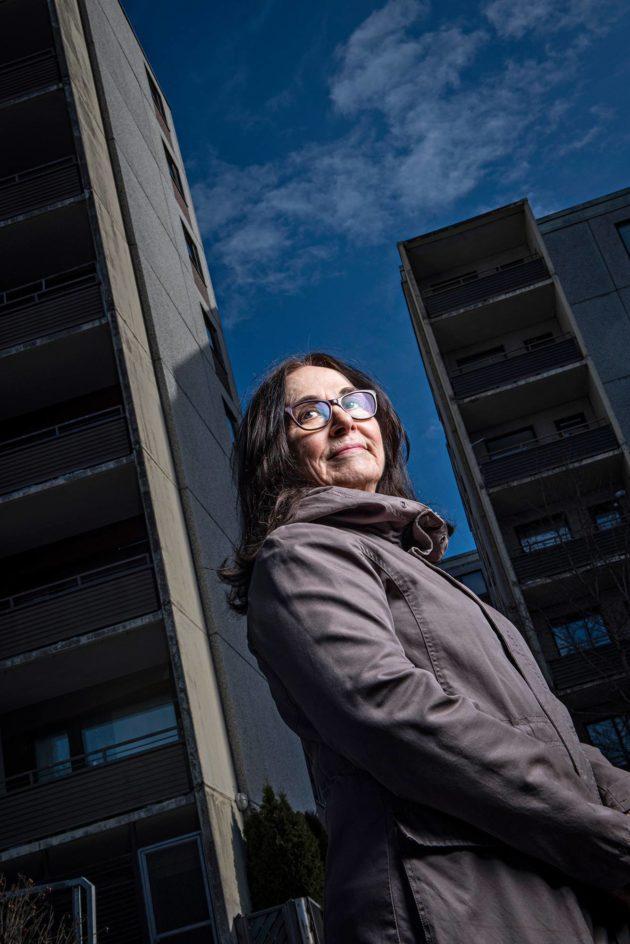 Anneli Aunola kuvattiin Turun Varissuolla.