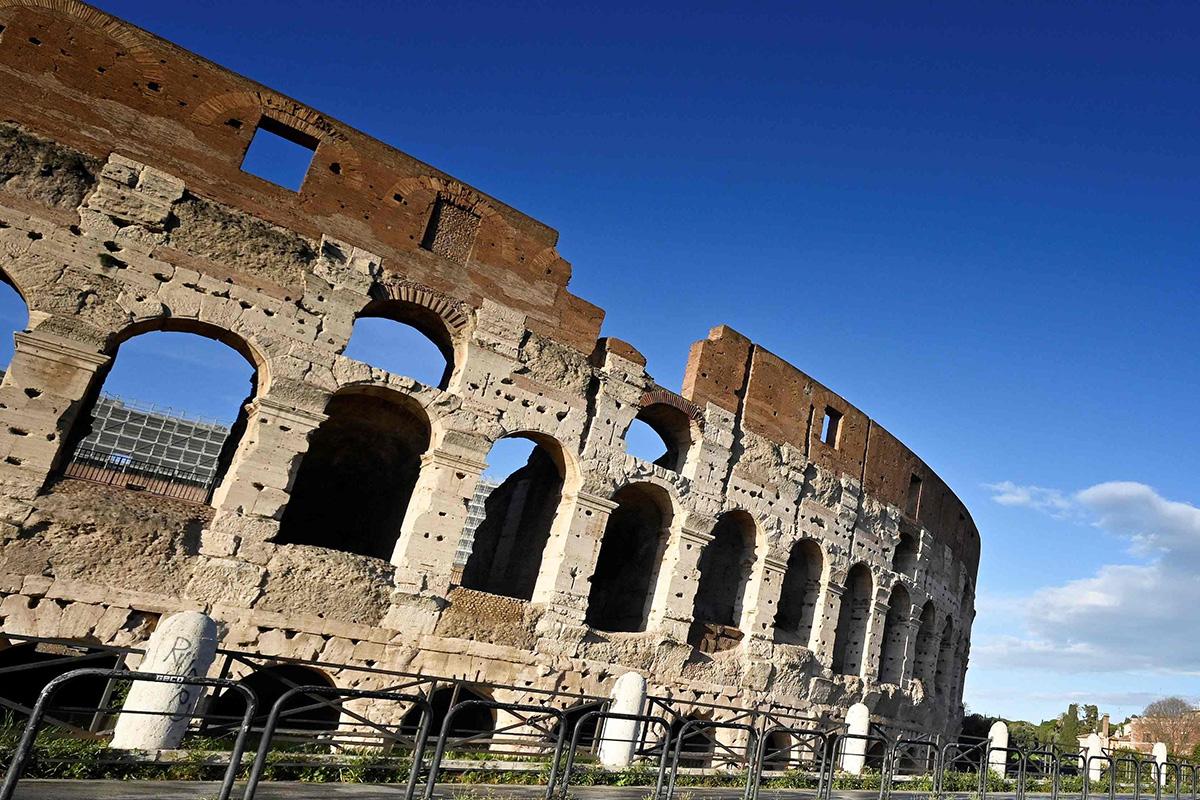 Antiikin Rooman Colosseum. Kuvituskuva.