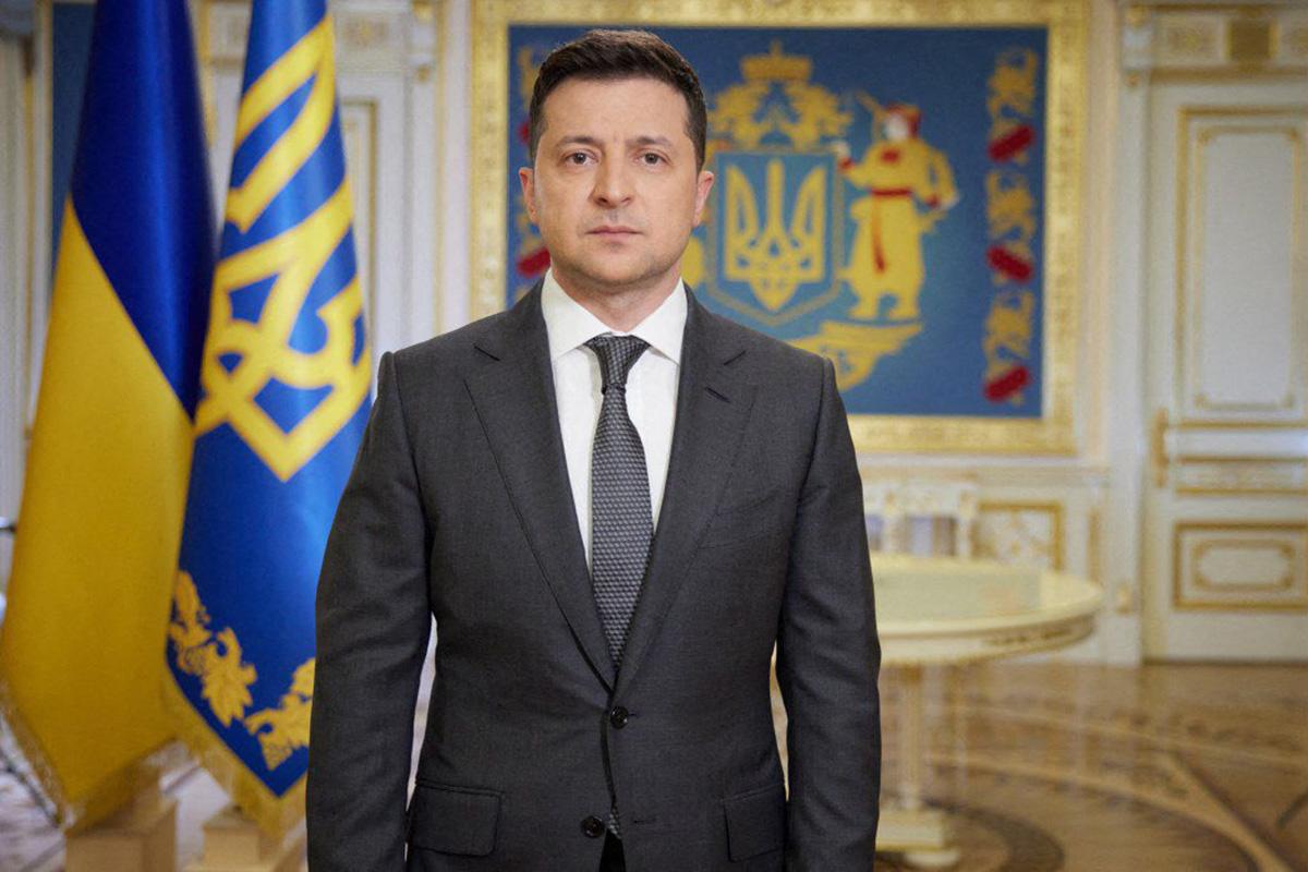 Ukrainan presidentti Volodymyr Zelenskyi 20. huhtikuuta 2021.