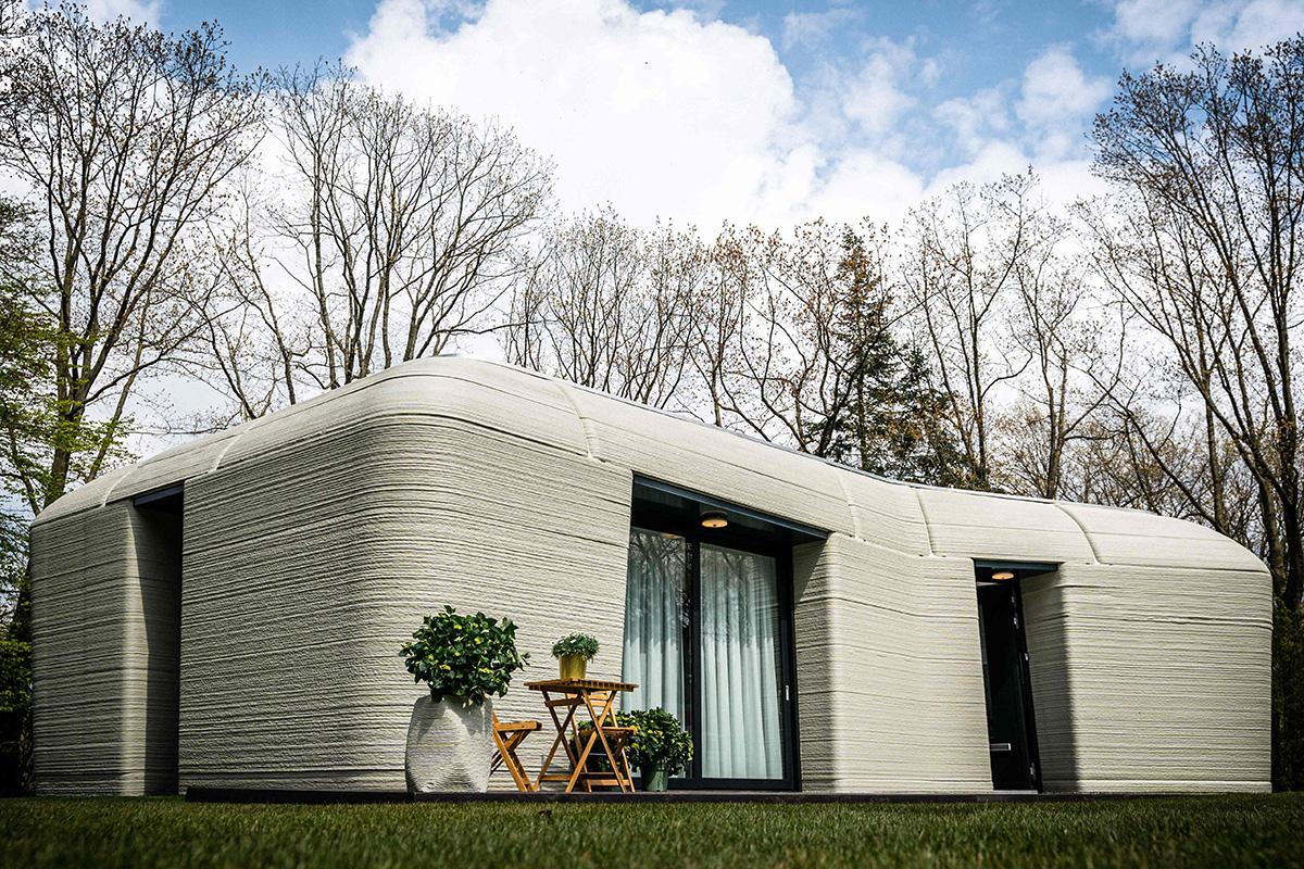 3D-tulostettu talo Eindhovenissa Alankomaissa.