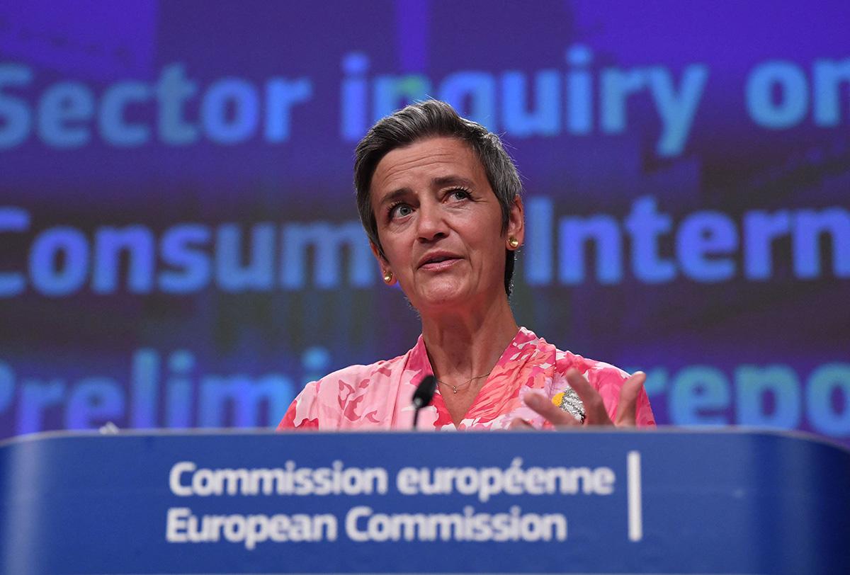 Euroopan digitaalisesta valmiudesta vastaava EU-komission varapuheenjohtaja Margrethe Vestager.