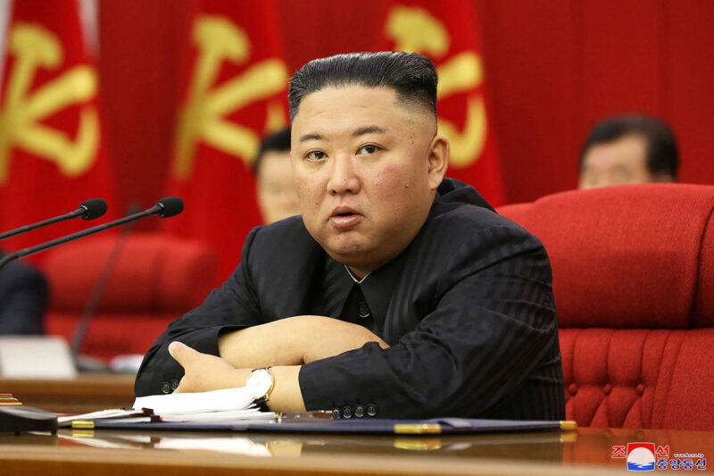 Pohjois-Korean diktaattori Kim Jong-un 18. ksäkuuta otetussa kuvassa.