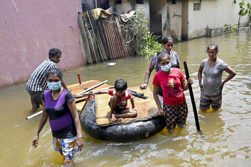Sri Lanka on kärsinyt monsuunisateiden aiheuttamista tulvista kesän aikana.