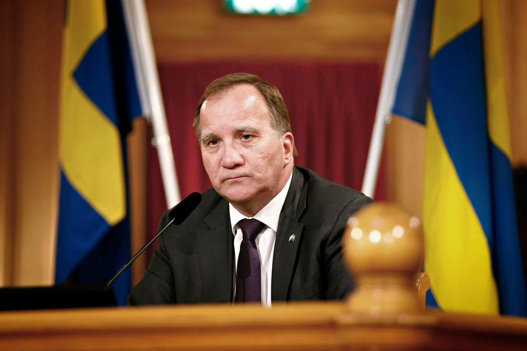 Sosiaalidemokraattien Stefan Löfven nimitettiin hallitustunnustelijaksi maanantaina 5. heinäkuuta 2021.