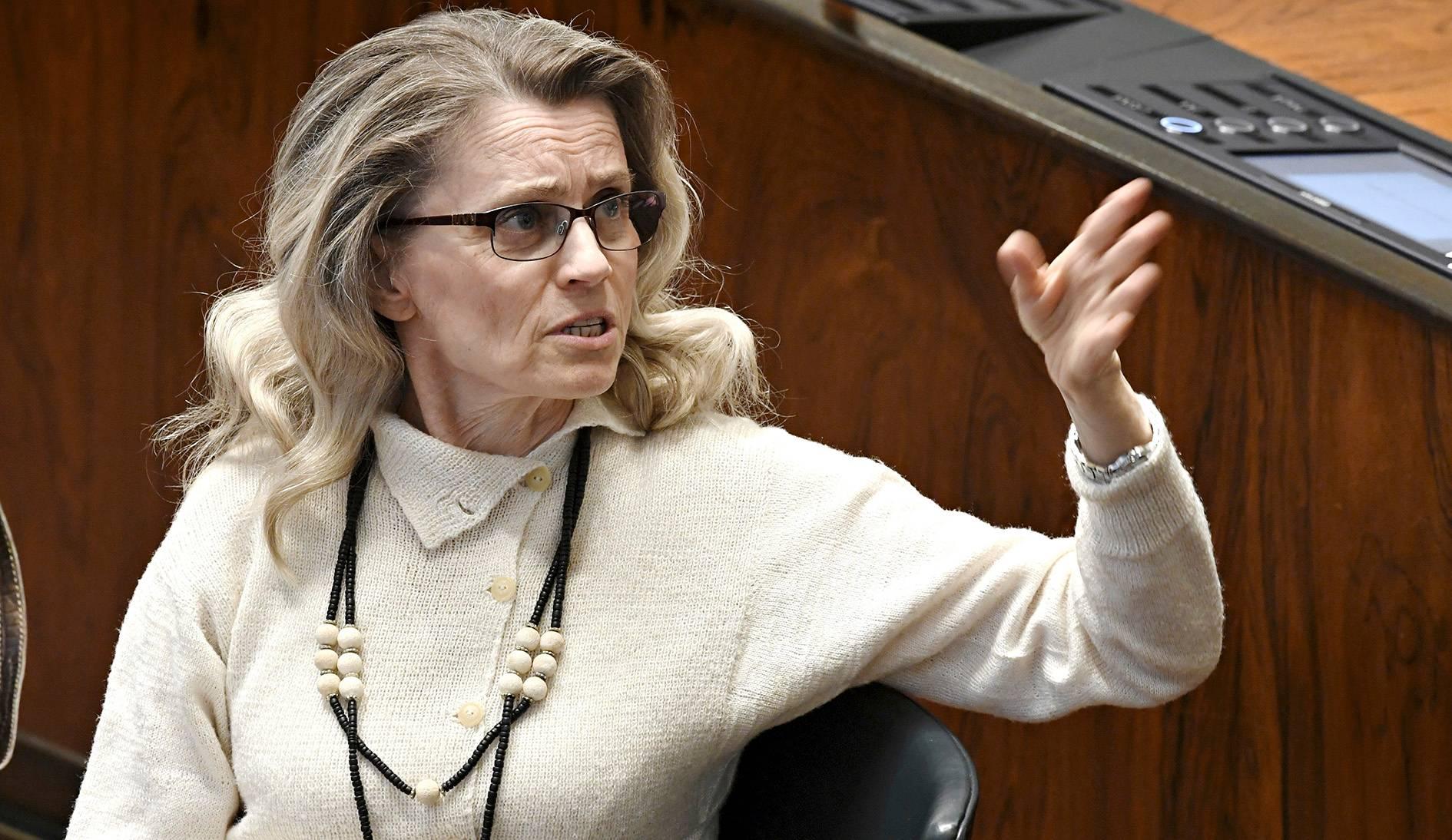 Päivi Räsänen toimii KD:n eduskuntaryhmän puheenjohtajana.